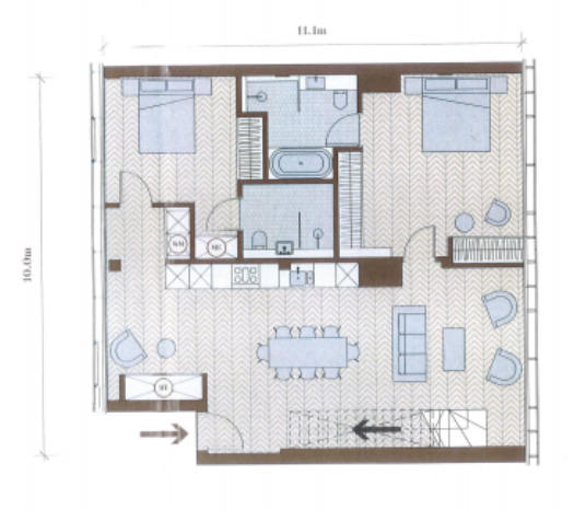 Floorplan of Switch House East, Battersea, London, SW8 5BN