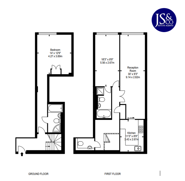 Floorplan of Young Street, London, London, W8 5EH