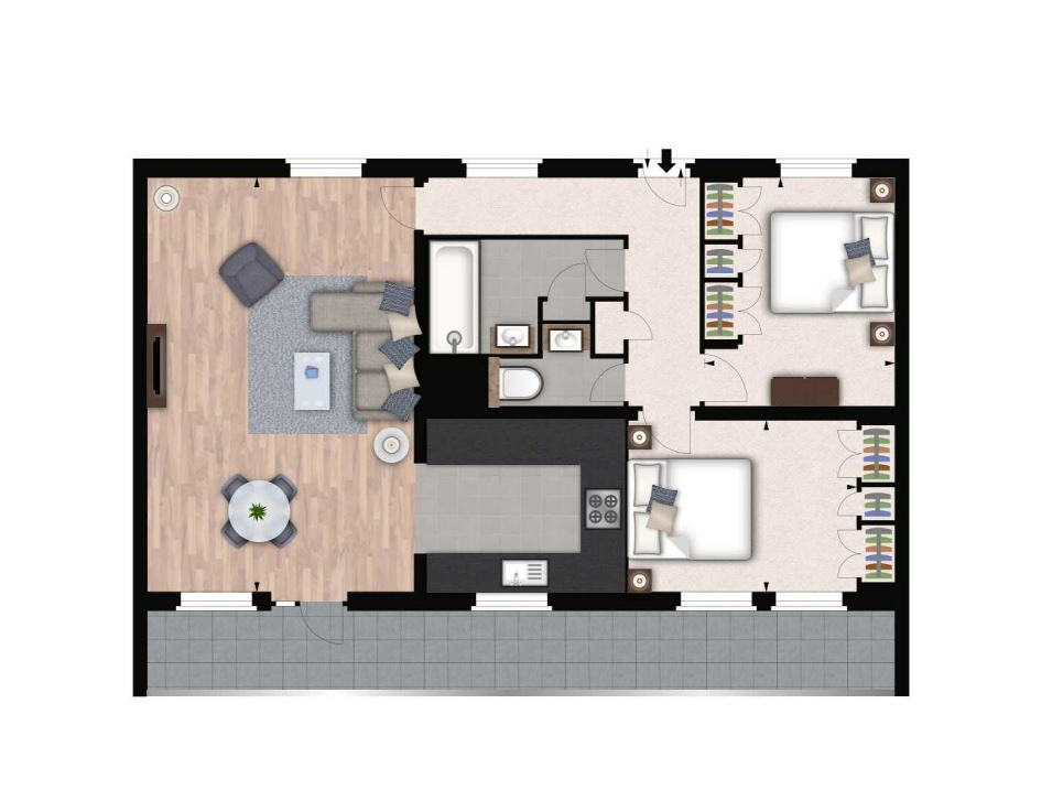 Floorplan of South Kensington, London, SW3 6SN